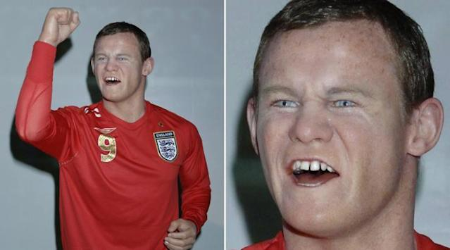 <p>Half-man, half-cat, all wax – it's Rooney, apparently. </p>