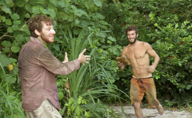 """Don't Say Anything About My Mom"" - John Cochran and Edward ""Eddie"" Fox during the thirteenth episode of ""Survivor: Caramoan - Fans vs. Favorites."""