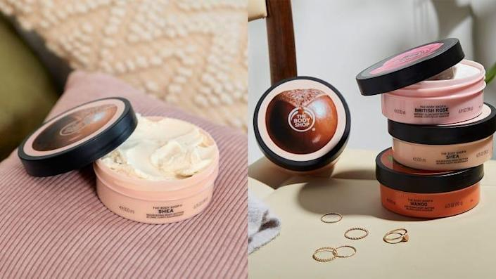 The Body Shop's Shea Body Butter moisturizes the skin without making it feel heavy or greasy.