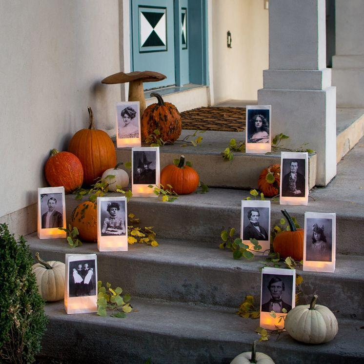 "<p>Adhere a few old portraits to some paper bag lanterns for a front walkway that will send shivers down everyone's spine. </p><p><a href=""https://thehousethatlarsbuilt.com/2017/10/paper-bag-portrait-luminaries.html/"" rel=""nofollow noopener"" target=""_blank"" data-ylk=""slk:Get the tutorial at The House That Lars Built »"" class=""link rapid-noclick-resp""><em>Get the tutorial at The House That Lars Built »</em></a></p>"