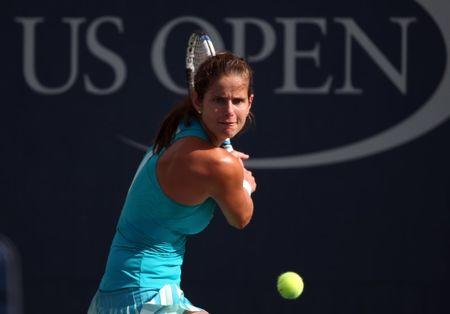 FILE PHOTO: Julia Goerges of Germany returns a shot to Aleksandra Krunic of Serbia on day five of the U.S. Open tennis tournament at USTA Billie Jean King National Tennis Center, New York, NY, USA, Sep 1, 2017. Mandatory Credit: Jerry Lai-USA TODAY Sports