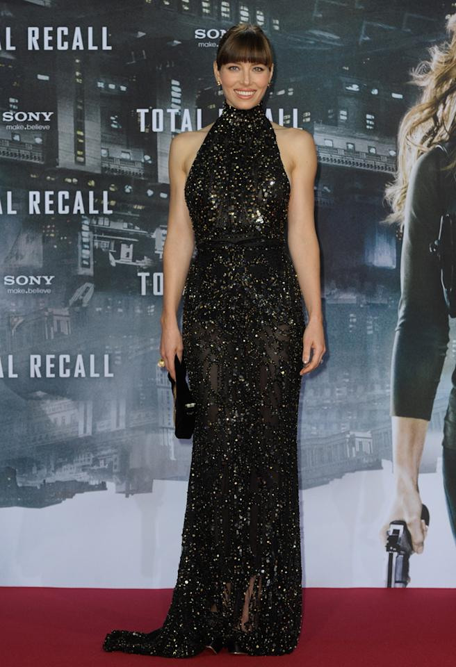 BERLIN, GERMANY - AUGUST 13:  Jessica Biel attends the 'Total Recall' Germany Premiere at CineStar on August 13, 2012 in Berlin, Germany.  (Photo by Luca Teuchmann/WireImage)