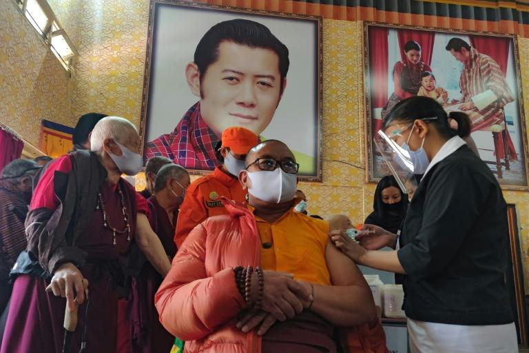 In Bhutan, vaccinations are proceeding at a fast pace