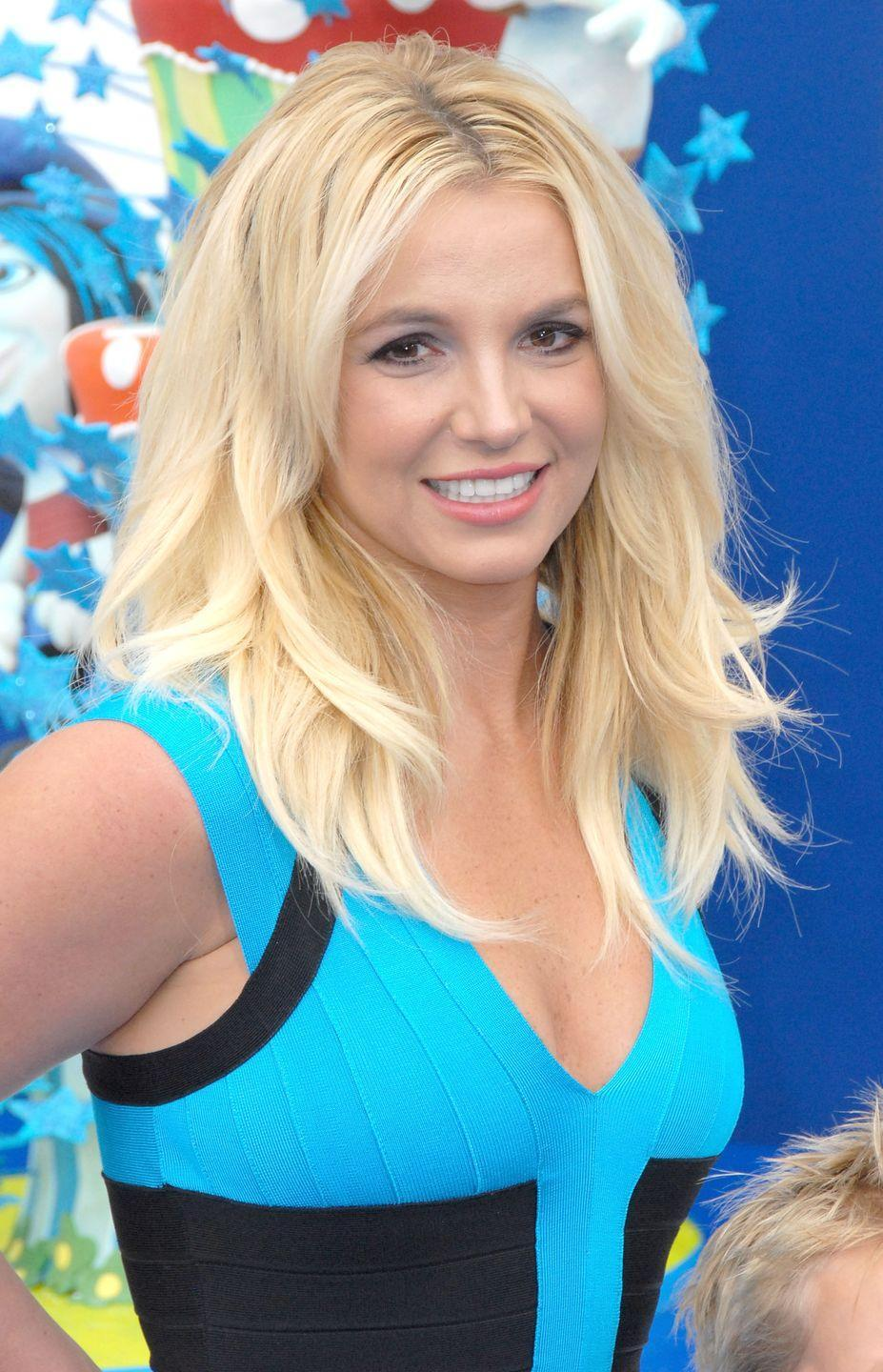 <p>Britney went shorter and ditched the bangs for a movie premiere in 2013.</p>