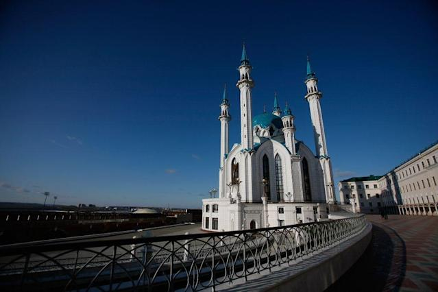 <b>KAZAN, RUSSIA: </b> The Qolsharif Mosque in the Kazan Kremlin in Kazan, Russia. At the time of its original construction in the 16th century, it was believed to be the oldest mosque in Europe outside Istanbul. Named after Qolsharif, a religious scholar and Imam of the Khanate of Kazan, who died in 1552 defending the mosque against Russian forces of Ivan the Terrible. It was rebuilt and inaugurated in 2005. Kazan is in Tatarstan, a federal subject of Russia in the Volga Federal District.