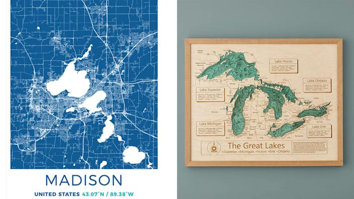 Milwaukee Journal Sentinel / Reviewed 2019 gift guide: Wisconsin / Great Lakes map
