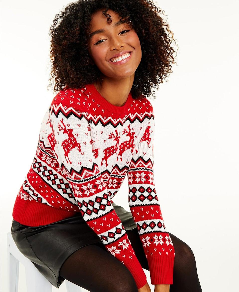 <p>This <span>Charter Club Women's Reindeer Sweater</span> ($25, originally $60) gives you the best of both worlds: comfort and style.</p>