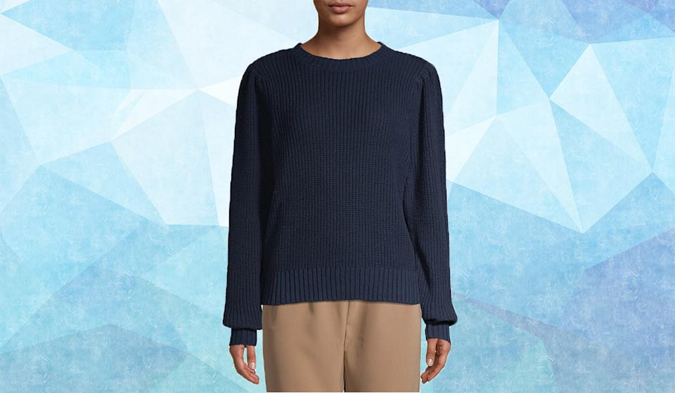 Stay toasty warm in this relaxed knit. (Photo: Walmart)
