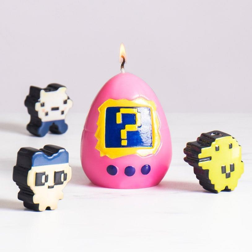 <p>This <span>Hatching Virtual Pet Candle</span> ($28) is like a Tamagotchi in candle form - it hides a surprise pet inside!</p>