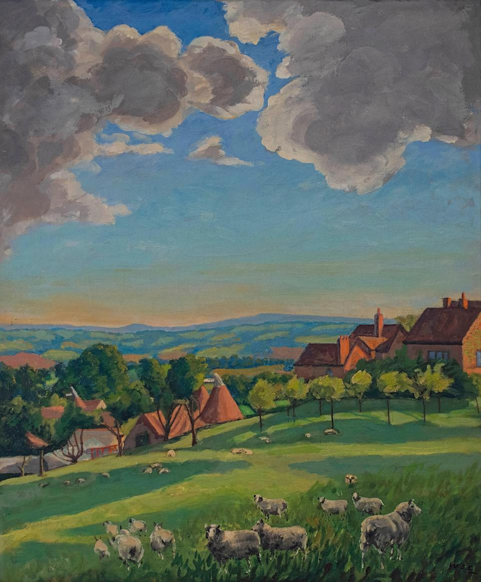 No one wants to gambol: this painting of sheep grazing by Winston Churchill failed to sell at Christie's