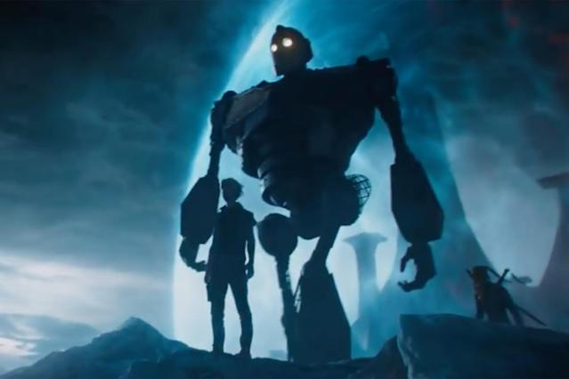 The Iron Giant plays a key role in <em>Ready Player One.</em> (Photo: Warner Bros.)