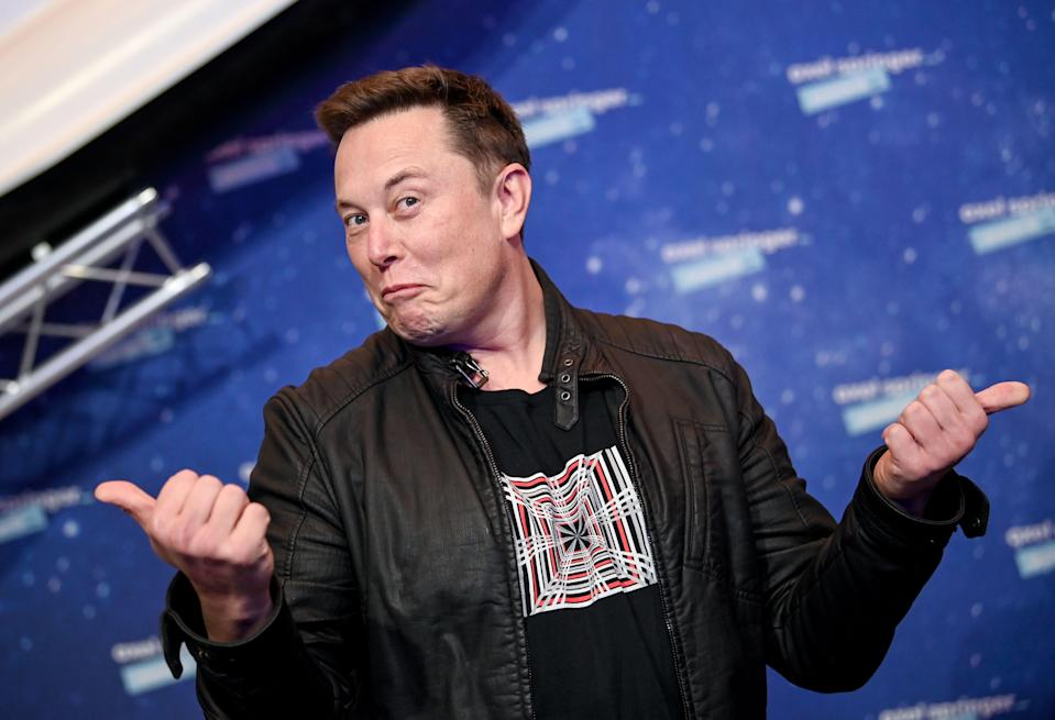 BERLIN, GERMANY DECEMBER 01:  SpaceX owner and Tesla CEO Elon Musk poses on the red carpet of the Axel Springer Award 2020 on December 01, 2020 in Berlin, Germany.  (Photo by Britta Pedersen-Pool/Getty Images) (Photo: Pool via Getty Images)