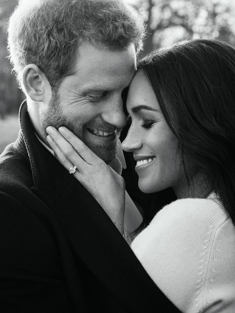 The photos show the loved-up 36-year-old former Suits actress and 33-year-old Prince Harry gazing adoringly at each other at Frogmore House on the Windsor Castle property in Berkshire. Photo: Instagram/Kensington Palace