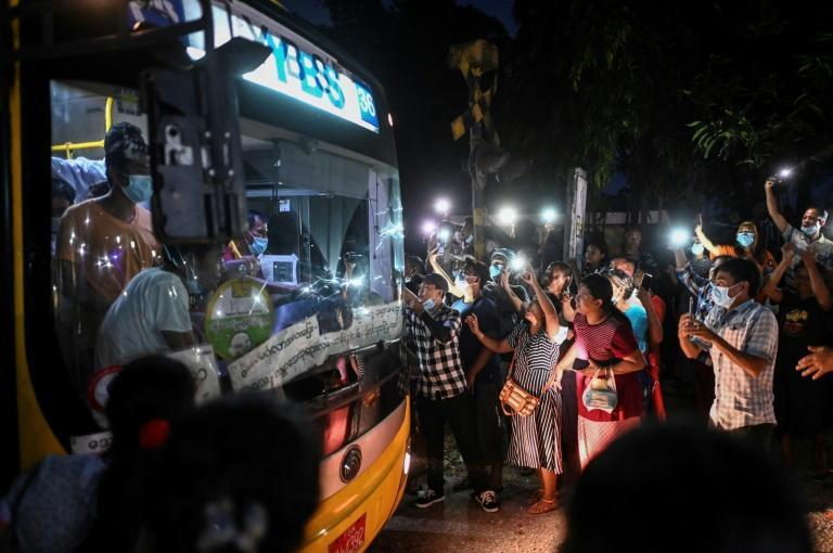 After authorities announced the amnesty, a crowd of at least 200 people gathered outside the colonial-era Insein prison in Yangon hoping a loved one might be released