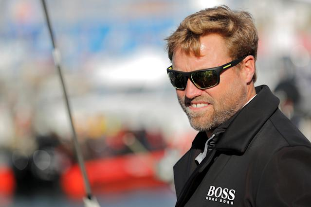 Skipper Alex Thomson of Britain is seen on his monohull on the eve of the start of the Vendee Globe Challenge sailing race at Les Sables d'Olonne on France's Atlantic coast, western France, November 5, 2016. REUTERS/Stephane Mahe