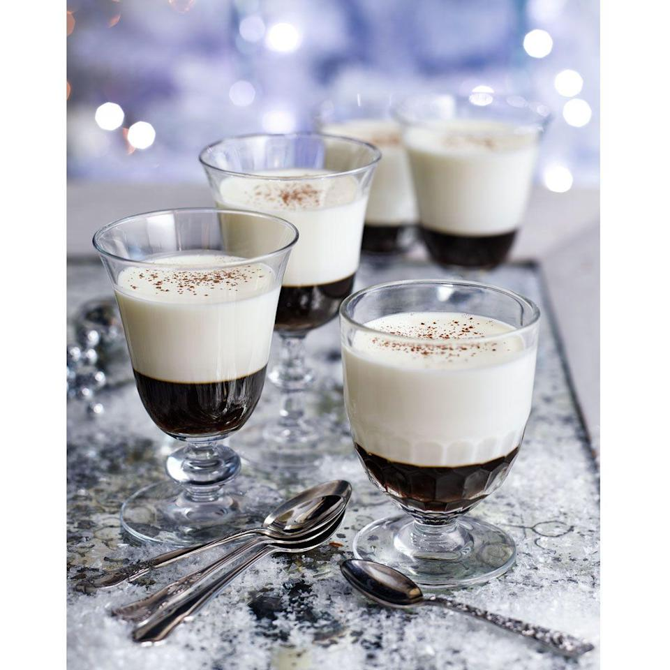 """<p>Based on the popular drink, these feisty little puddings are a real treat.</p><p><strong>Recipe: <a href=""""https://www.goodhousekeeping.com/uk/christmas/christmas-recipes/a558379/white-russian-pannacotta/"""" rel=""""nofollow noopener"""" target=""""_blank"""" data-ylk=""""slk:White Russian pannacotta"""" class=""""link rapid-noclick-resp"""">White Russian pannacotta</a></strong></p>"""