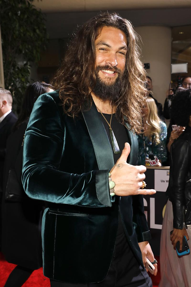 Momoa at the 77th annual Golden Globe Awards.