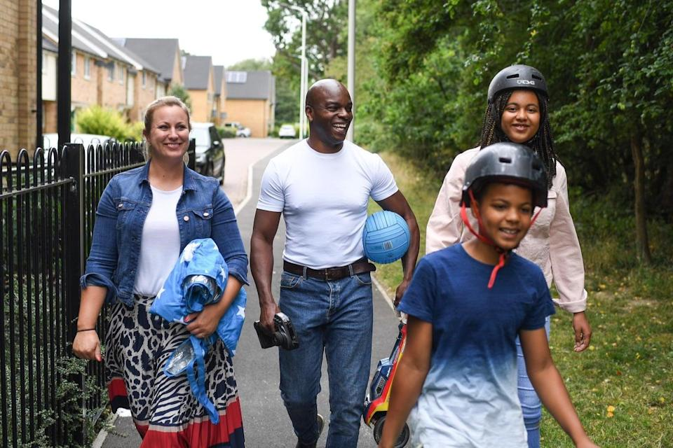 Family man: Shaun Bailey with wife Ellie and children Aurora and Joshua Shaun Bailey campaign