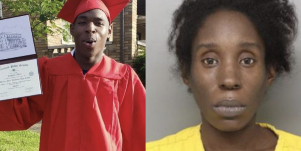 Pictured left is Dominic Allen and on the right is his mother, Kenya Stallworth.