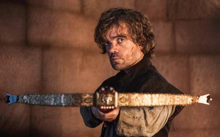Tyrion Lannister in the act of committing fratricide