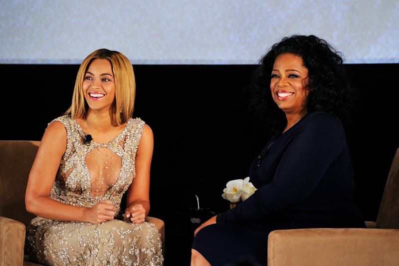 Validation: Oprah Winfrey interviewing Beyoncé: Larry Busacca/Getty