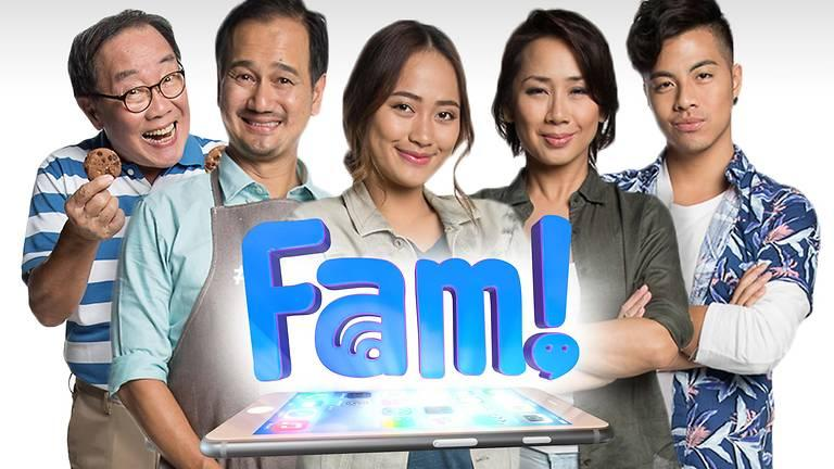 Local sitcom FAM! has been nominated for best comedy in this year's International Emmy Awards. FAM!, produced by Oak3 Films, is about a girl who aspires to be a journalist but is a misfit in a family of social media influencers. The 13-episode Toggle TV series was released in October 2018 and stars Jermaine Leong, Gurmit Singh, Vernetta Lopez, Benjamin Kheng and Patrick Teoh. (PHOTO: Mediacorp/Toggle)