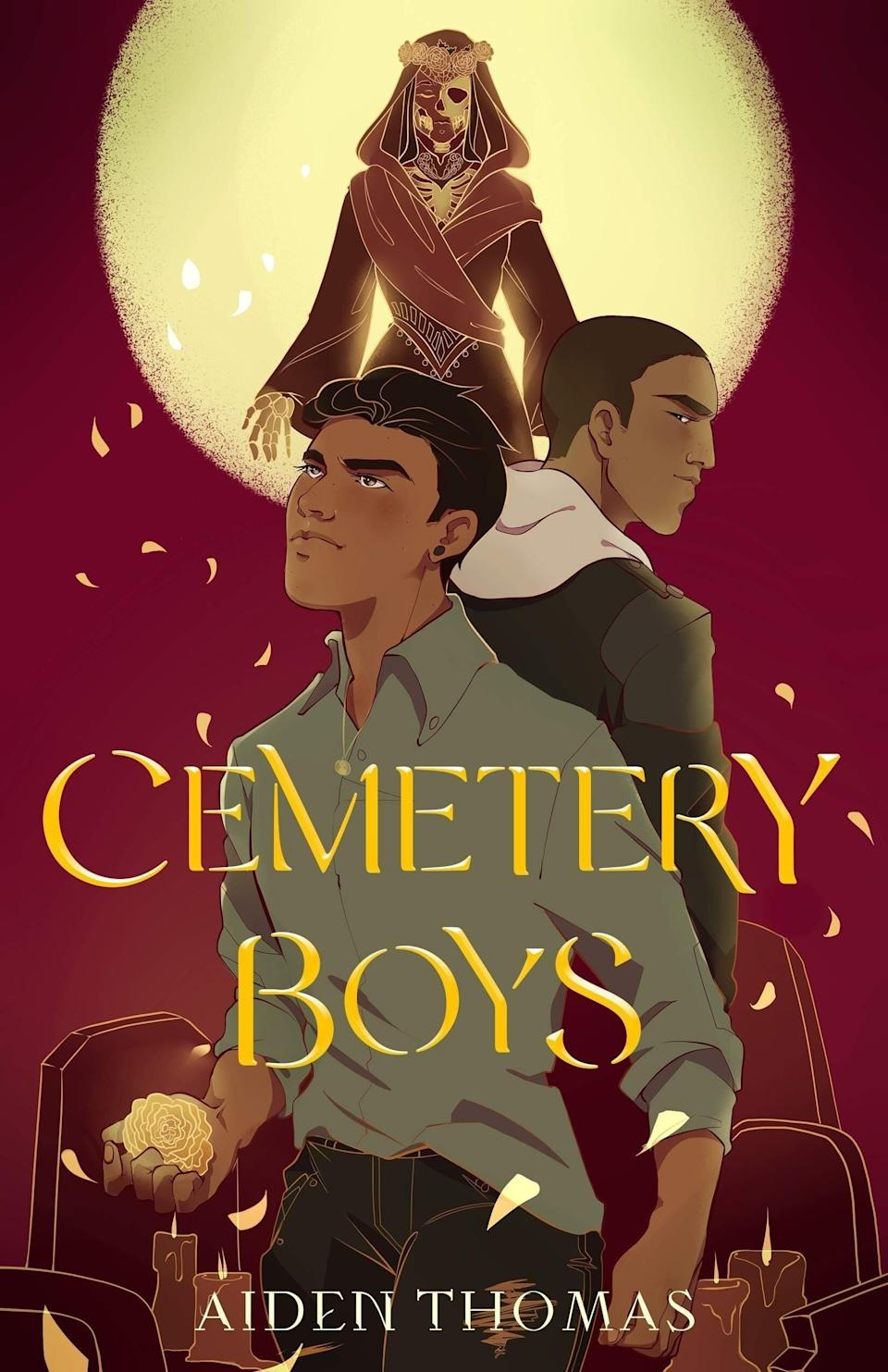 <p>If you like your YA romance with a paranormal twist, <strong><span>Cemetery Boys</span></strong> is for you! Aiden Thomas's breakout debut centers on Yadriel, a trans boy who struggles with the gender-based inherited powers of his Latinx family. To prove himself, he tries to set free the ghost of his murdered cousin, but instead accidentally summons the ghost of his high school's bad boy, Julian. As the boys work together to solve the mystery of Julian's death, Yadriel starts to realize that he doesn't want Julian to go.</p>