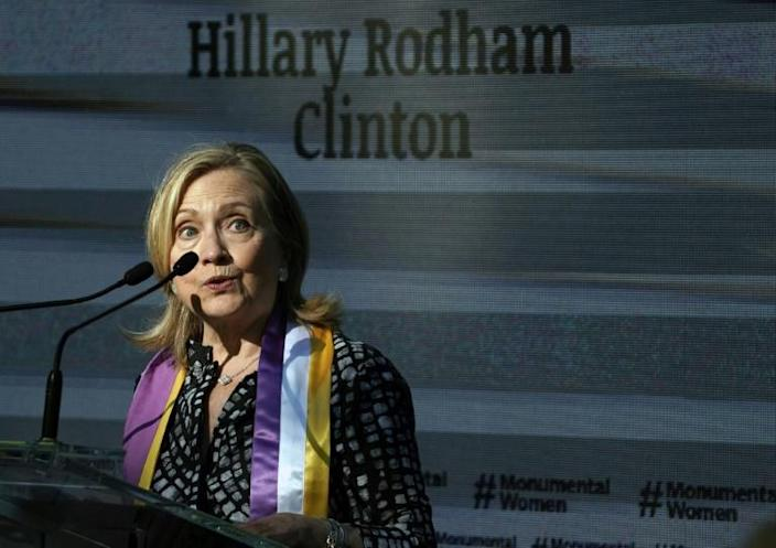 Hillary Clinton said she will cast a vote in the Electoral College and cannot imagine a victory by President Donald Trump