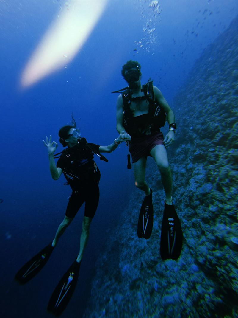 My first time scuba diving and my first time scuba diving with my husband! The Pro Divers Maldives crew was unreal.