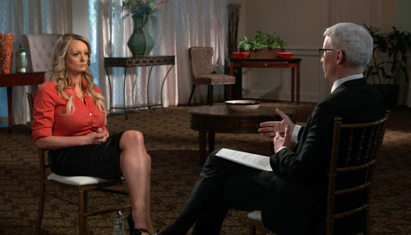 Stormy also spoke out in an interview with Anderson Coop. Photo: CBS/60 Minutes