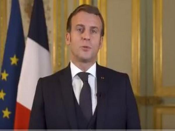 French President Emmanuel Macron speaking at the G-20 Summit.