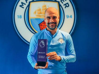 Manchester City boss Pep Guardiola edged out Jurgen Klopp to claim Premier League manager of the year award