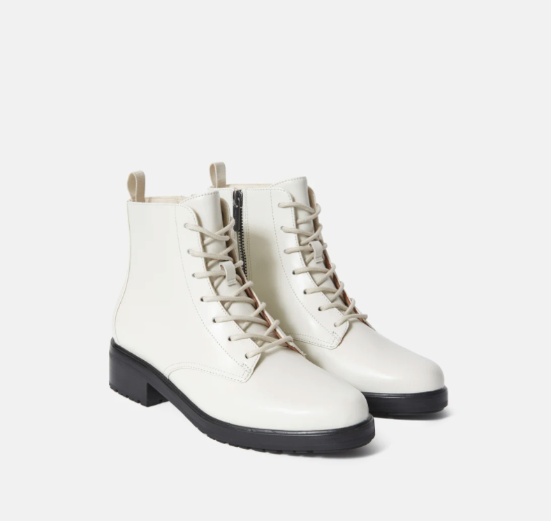 The Modern Utility Lace-Up Boot. Image via Everlane.