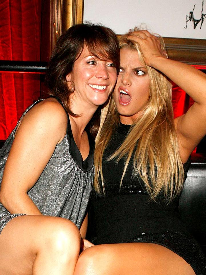 "Jessica Simpson tries to impress ""SNL"" alum Cheri Oteri with her wacky sense of humor. Jeff Vespa/<a href=""http://www.wireimage.com"" target=""new"">WireImage.com</a> - October 24, 2007"