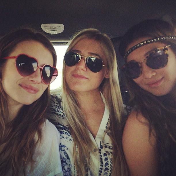 Road trip! Emma Roberts (l.) was feeling the love as she hit the road with friends.