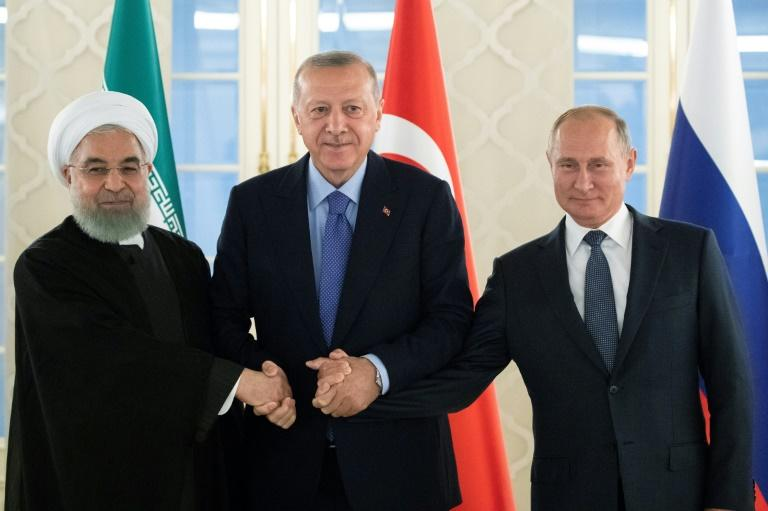 Iranian President Hassan Rouhani, Turkish President Recep Tayyip Erdogan and Russian President Vladimir Putin met in Ankara for their fifth summit on Syria since 2017