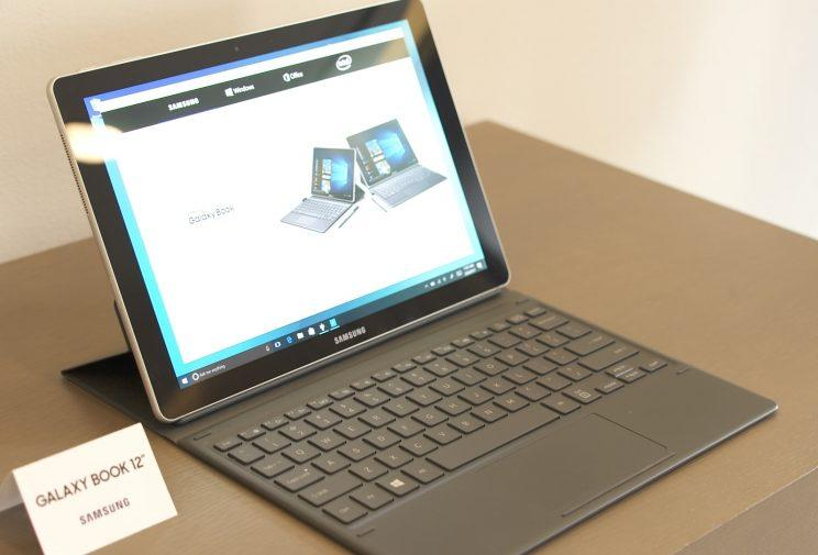 The Galaxy Book 12 and its included keyboard.
