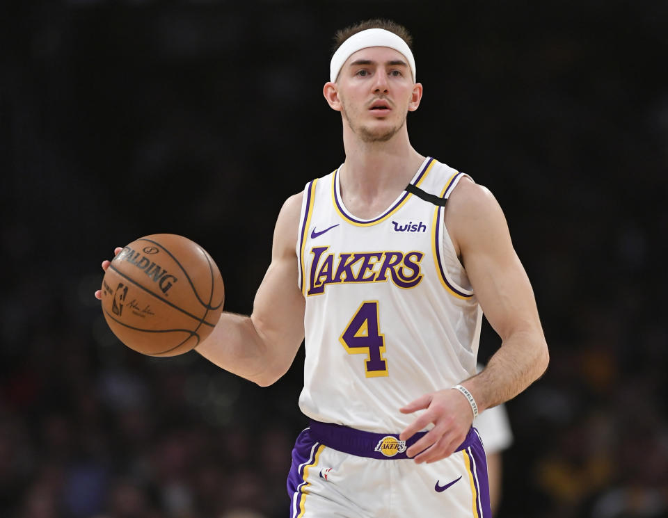 Los Angeles Lakers guard Alex Caruso skipped his sisters wedding last weekend to stay inside the NBA bubble.