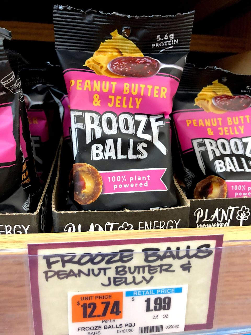 """<p>Both flavors of Frooze Balls each cost $2, which is pretty typical for a protein bar. I like the idea of these balls better than a bar, though, because it makes it easier to have just one little taste for an after-meal treat. A bag would also be great as a quick on-the-go breakfast paired with a small smoothie or to nosh on as a post-workout snack. </p> <p>Of course, you can make your own date and nut <a href=""""https://www.popsugar.com/fitness/Chocolate-Coconut-Protein-Balls-40232548"""" class=""""link rapid-noclick-resp"""" rel=""""nofollow noopener"""" target=""""_blank"""" data-ylk=""""slk:coconut-covered protein balls"""">coconut-covered protein balls</a>, but you can't beat the convenience of these Frooze Balls. I'll definitely buy these again. I hope they come out with more flavors!</p>"""