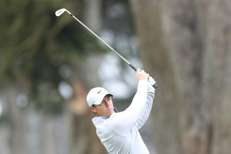 Northern Ireland's Rory McIlroy plays a shot during a practice round prior to the 2020 PGA Championship at TPC Harding Park. McIlroy has already won two PGA Championships, but his last one in 2014 also accounts for most recent major title