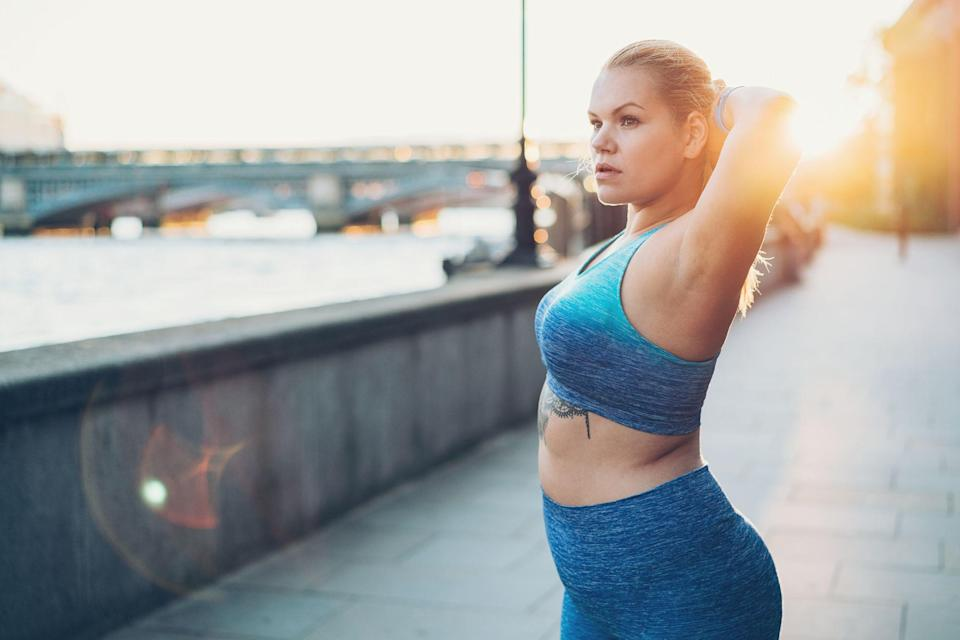 """<p>You work out most days of the week and eat healthy meals as much as you can, yet the scale shows you're gaining—not losing—weight, so what's going on? Excess weight around your waistline can be the hardest to lose and the truth is, as we get older, even a slight disruption in our <a href=""""https://www.prevention.com/health/a20477243/signs-your-thyroid-is-out-of-whack/"""" rel=""""nofollow noopener"""" target=""""_blank"""" data-ylk=""""slk:hormone levels"""" class=""""link rapid-noclick-resp"""">hormone levels</a> can cause stubborn <a href=""""https://www.prevention.com/fitness/g20459708/best-workouts-to-target-belly-fat/"""" rel=""""nofollow noopener"""" target=""""_blank"""" data-ylk=""""slk:belly fat"""" class=""""link rapid-noclick-resp"""">belly fat </a>to stick. </p><p>In fact, <a href=""""https://academic.oup.com/jcem/article/103/5/1948/4953992"""" rel=""""nofollow noopener"""" target=""""_blank"""" data-ylk=""""slk:research"""" class=""""link rapid-noclick-resp"""">research </a>suggests that postmenopausal women on hormonal replacement therapy have lower levels of belly fat than those that aren't. Before you rush to your doctor to get a prescription for your hormonal belly, there are natural ways to readjust your levels. Reducing sugar intake, eliminating processed foods from your diet, and avoiding things like <a href=""""https://www.prevention.com/food-nutrition/healthy-eating/a29088480/no-dairy-diet/"""" rel=""""nofollow noopener"""" target=""""_blank"""" data-ylk=""""slk:dairy,"""" class=""""link rapid-noclick-resp"""">dairy,</a> alcohol, and caffeine can all help reset your blood sugar and insulin levels. </p><p>Here are five signs your hormones may be to blame. </p>"""