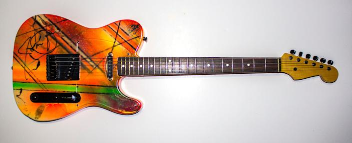 John Oates played this Fernandes Electric Guitar during the mid 1980's Big Bam Boom era. The 2014 Rock and Roll Hall of Fame Inductee exhibit opens May 31, 2014 in Cleveland, Ohio.