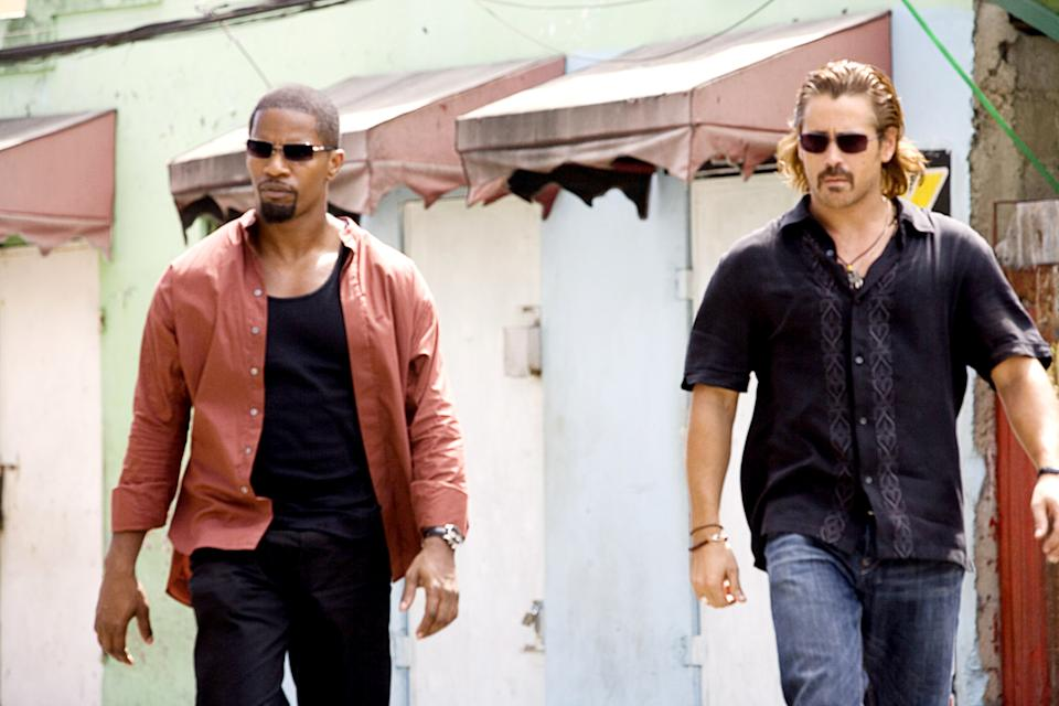 Jamie Foxx and Colin Farrell in Michael Mann's 2006 movie version of 'Miami Vice' (Photo: Universal / Courtesy: Everett Collection)