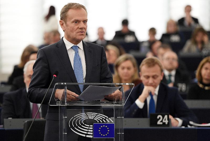 The decision to give Donald Tusk a new term as European Council President has sparked a spat between Brussels and Warsaw (AFP Photo/FREDERICK FLORIN)