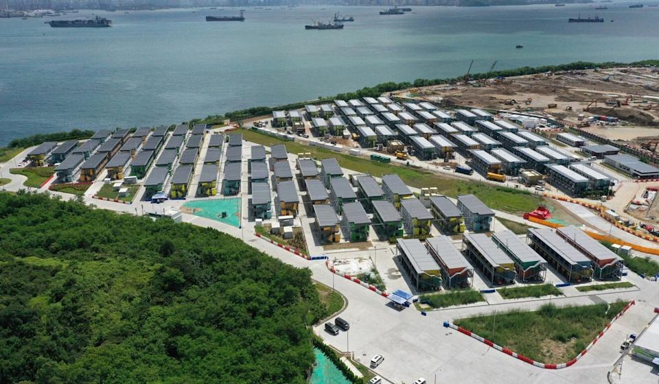 The quarantine facilities at Penny Bay on Lantau Island. Photo: Winson Wong