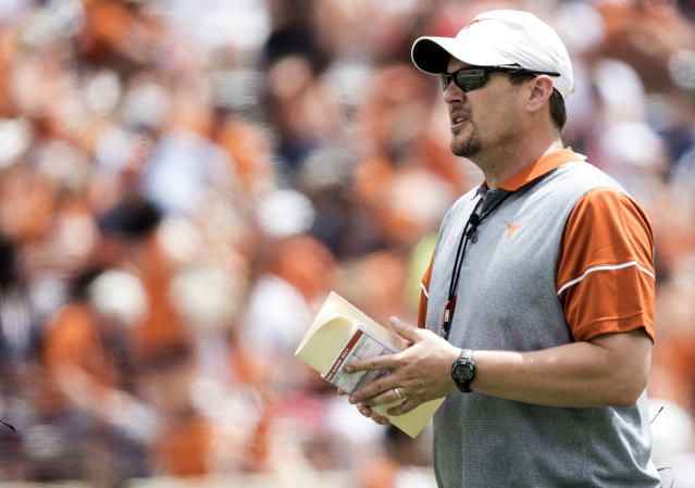 A top priority for Tom Herman at Texas was upgrading facilities. (AP)