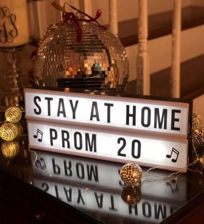 Kaki Kirk's family decorated the whole house with prom balloons and streamers for her home prom. (Courtesy of Kristen Kirk)