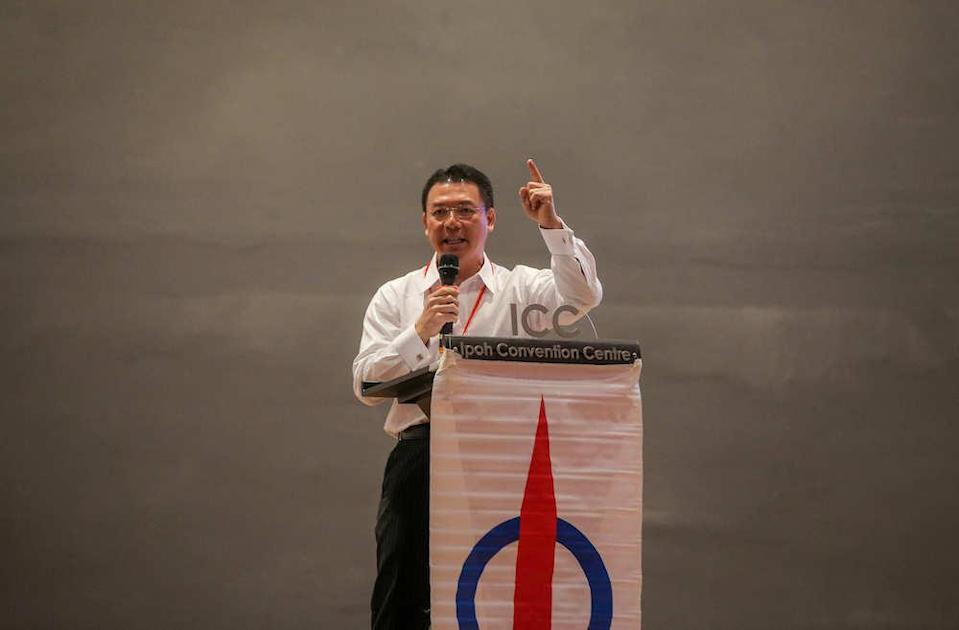 The polls which were held in conjunction with the 19th State DAP Convention saw chairman Nga Kor Ming (pic) and advisor Datuk Ngeh Koo Ham retain their posts. — Pictures by Farhan Najib