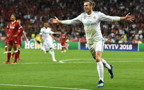 <span>Bale celebrates his second goal</span> <span>Credit:  Getty Images </span>