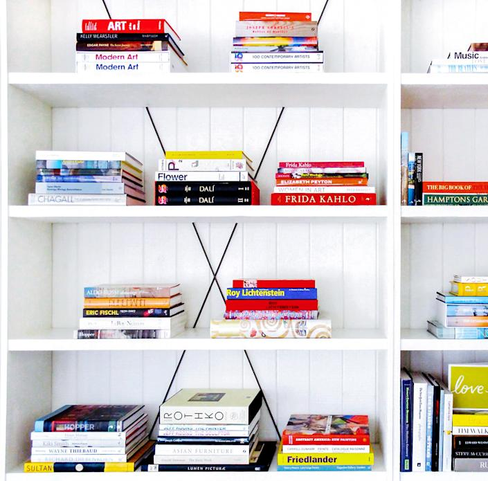 A closer look at the titles on the A-lister's shelves [Photo: Juniper Books]